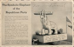 The Symbolic Elephant of the Republican Party Postcard