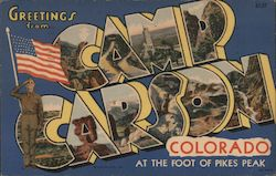 Greetings from Camp Carson, Colorado, at the Foot of Pikes Peak