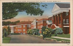 Campus Scene, Appalachian State Teachers' College Postcard