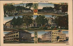 Scott and White Hospital, Temple, Texas Postcard
