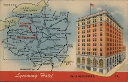 Lycoming Hotel - Map
