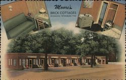 Moore's Brick Cottages Postcard