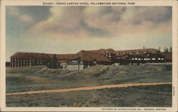 Grand Canyon Hotel, Yellowstone National Park Postcard