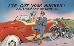 I've got your number! All speed and no control Postcard