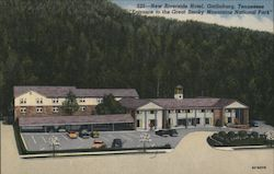 New Riverside Hotel, Entrance to Great Smoky Mountains National Park Postcard