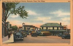 Depot Square and Railroad Station, Cape Cod