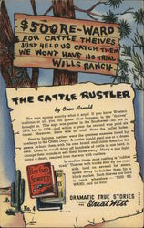 The Cattle Rustler by Oren Arnold Postcard