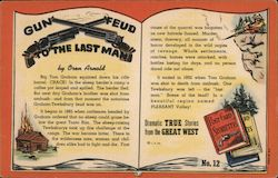 Gun Feud To The Last Man by Oren Arnold Postcard