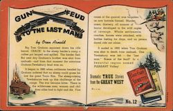 Gun Feud to the Last Man - Dramatic True Stories from the Great West, Post Card Storiettes Postcard