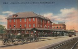 Atlantic Coastline Railroad Station Postcard