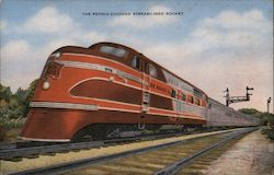 Peoria-Chicago Streamlined Rocket Postcard