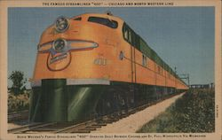 "The Famous Streamliner ""400"" - Chicago and North Western Line Postcard"