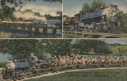 World's Most Beautiful Miniature Train Ride, Lincoln Parj Postcard