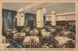 Dining Room and Coffee Shop, Ben Milam Hotel Postcard