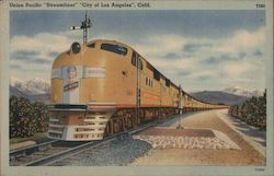 "Union Pacific Streamliner ""City of Los Angeles"" Postcard"