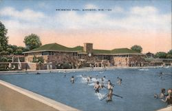 Swimming Pool Postcard