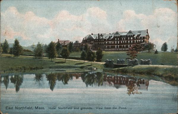 Hotel Northfield and Grounds, View from the Pond East Northfield Massachusetts