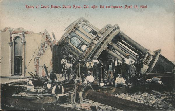 Ruins of Court House after the Earthquake April 18, 1906 Santa Rosa California