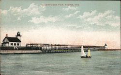 Government Pier Postcard