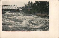 Rapids of Wisconsin River Postcard