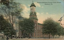 Northumberland County Court House Postcard