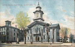 Leigh County Court House Postcard