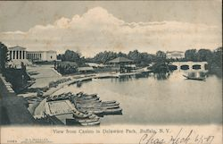 View from Casino in Delaware Park Postcard