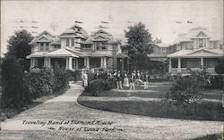 Traveling Band at Diamond House - House of David Park Postcard