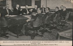 Russo-Japanese Peace Commission in Conference at Portsmouth Navy Yard, USA, August, 1905
