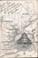 Jordan Marsh Company - Map of New England Postcard