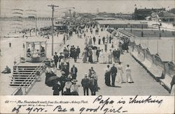 The Boardwalk South from the Arcade Postcard