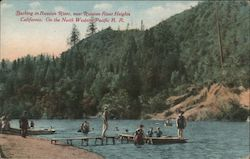 Bathing in Russian River, on the North Western Pacific R.R.