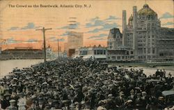 The Crowd on the Boardwalk Postcard