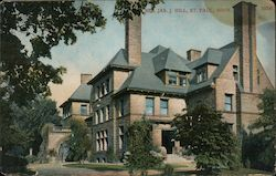 Residence of James J. Hill Postcard