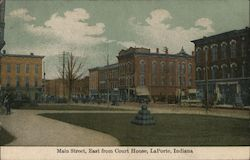 Main Street, East from Court House Postcard
