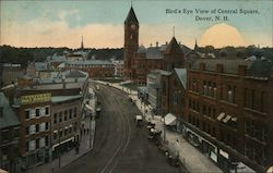 Bird's Eye View of Central Square Postcard