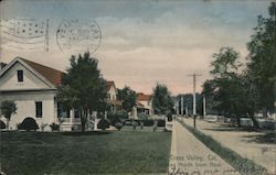 Residential area of Grass Valley, CA (Auburn St. looking North from Neal) Postcard
