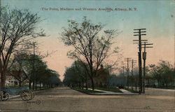 The Point, Madison and Western Avenues Postcard