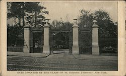 Gate Donated by The Class of '88, Columbia University Postcard