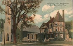 Episcopal Church and Rectory Postcard