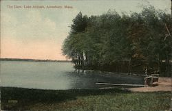 The Dam Lake Attitash Postcard