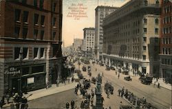 Market Street Showing Palace Hotel