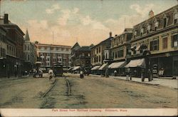 Park Street from Railroad Crossing Postcard