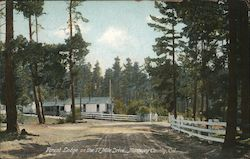Forest Lodge on the 17 Mile Drive, Monterey County Postcard
