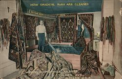 Washing Room of Adalian Bros Postcard