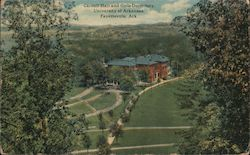 Carnell Hall and Girls Dormitory, University of Arkansas Postcard