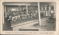 Scene at Stovall Hot Water Well Postcard