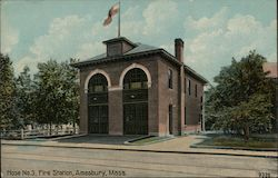 Hose No.3 Fire Station Postcard
