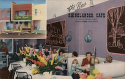 The New Rhinelander Cafe Postcard