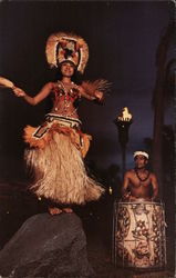 Polynesean Luau, Walt Disney World Postcard
